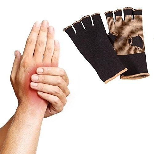Copper Threaded Pain Releiving Arthritis Compression Gloves For Carpal Tunnel, Pain Releif, Computer Typing, And Everyday Support For Hands (2)