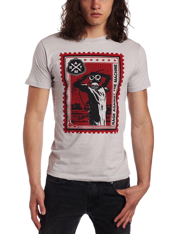 FEA Merchandising Mens Rage Against The Machine Postage Stamp Lightweight T-Shirt