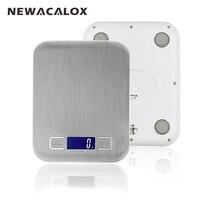NEWACALOX Gospodarstwa Domowego Elektroniczna Waga Kuchenna 5 kg Narzędzia do Gotowania Żywności Die Pocztowych LCD Cyfrowy Waga Zdrowia Wagi Balansu