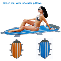 Outdoor Waterproof Beach Mat Pad with Inflatable Pillow Camping Picnic Plaid Foldable Blanket B2Cshop