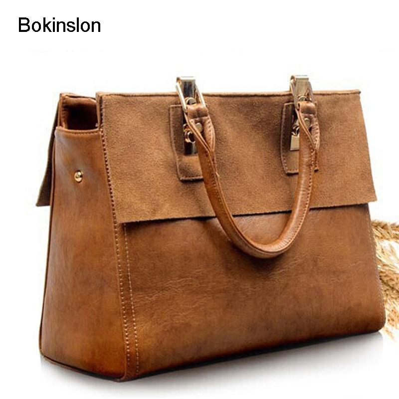 Bokinslon bolso de la marca de las mujeres de vaca de cuero de Split - Bolsos