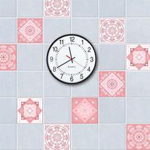 5 unids/set Rosa estilo barroco Vintage azulejos pegatina PVC impermeable autoadhesivo pared pegatinas baño DIY removible azulejo pegatina
