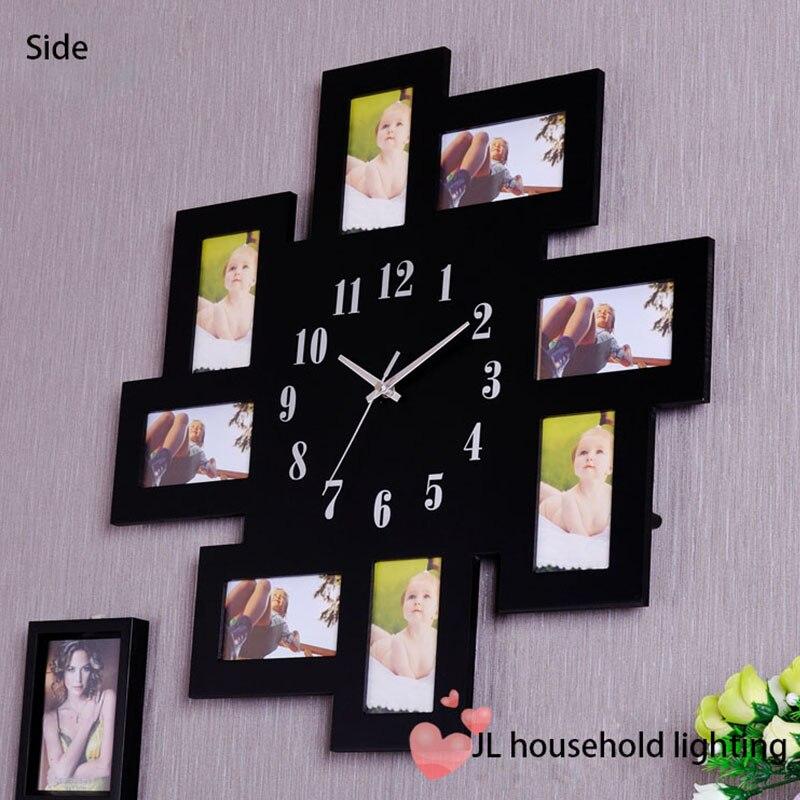 Negro 8 multi de la foto Grande Número reloj de pared collage marco ...