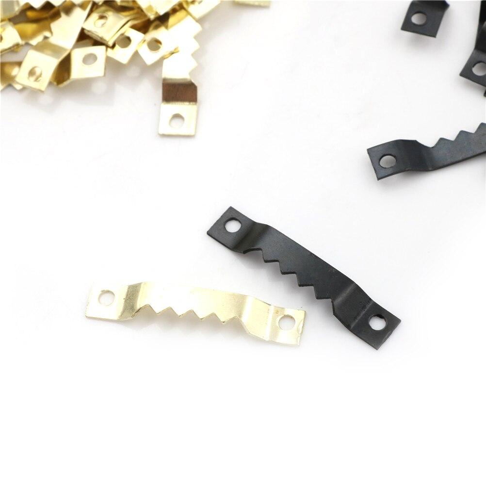 100 шт. новые черные крючки без гвоздей для фоторамки пилы зубной пилы оптовая продажа
