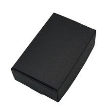 9.4x6.2x3 cm 웨딩 선물 카드 패키지에 대 한 검은 골 판지 종이 상자 크 래 프 트 종이 상자 생일 사탕 공예 포장 상자 50 pcs