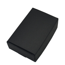 9.4x6.2x3cm Black Cardboard Paper Boxes for Wedding Gift Card Package Kraft Paper Box Birthday Candy Crafts Wrapping Box 50PCS