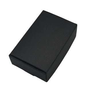 Image 1 - 9.4x6.2x3cm Black Cardboard Paper Boxes for Wedding Gift Card Package Kraft Paper Box Birthday Candy Crafts Wrapping Box 50PCS