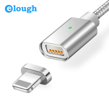 Elough E04 Magnetic Charger Cable For Apple iPhone 5 5s 6 6s 7 Plus Phones Fast Charge Max 2.4A Nylon Magnet Charger Cables Wire