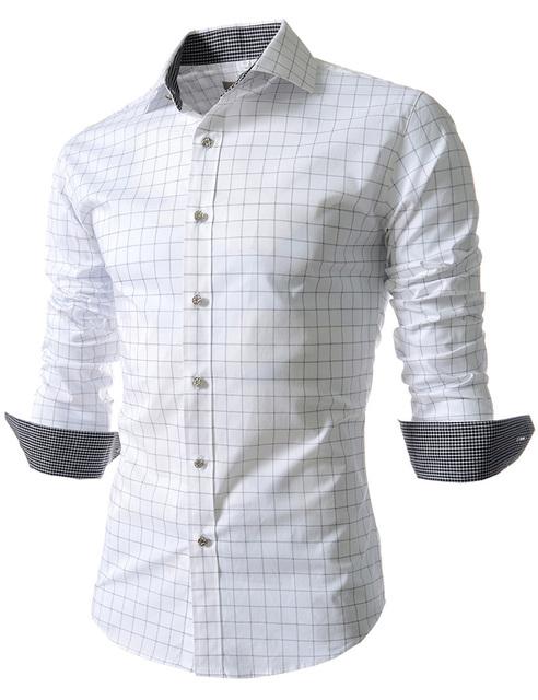 Alta Calidad Venta de La Fábrica 2016 de alta calidad de los hombres camisas de vestir de manga larga Botón de Francia masculina camisas casuales para hombre camisas a cuadros
