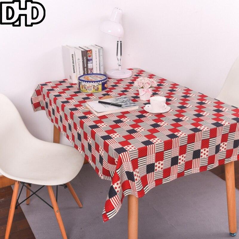 cuadros rojos manteles mantel moderno nappe rectangular mesa de tela cubierta de tabla para el