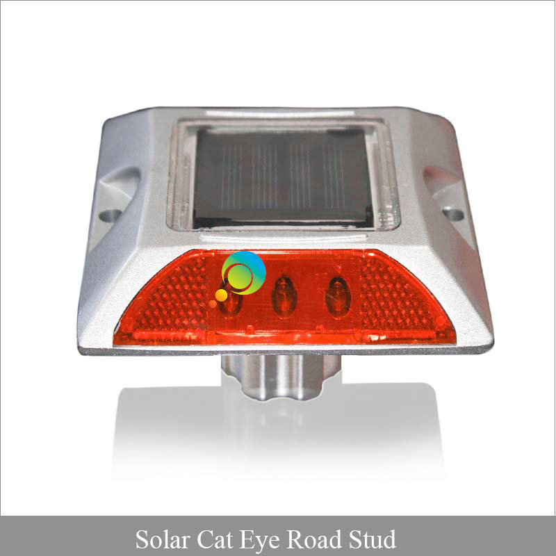 Red Color Waterproof LED Cat Eye Aluminous 3M Reflective Solar Road Stud For Sale
