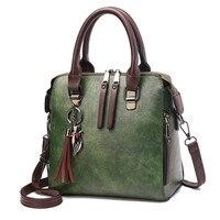 Дропшиппинг винтажные кожаные женские сумки-мессенджеры TotesTassel дизайнерские сумки через плечо Boston ручные сумки