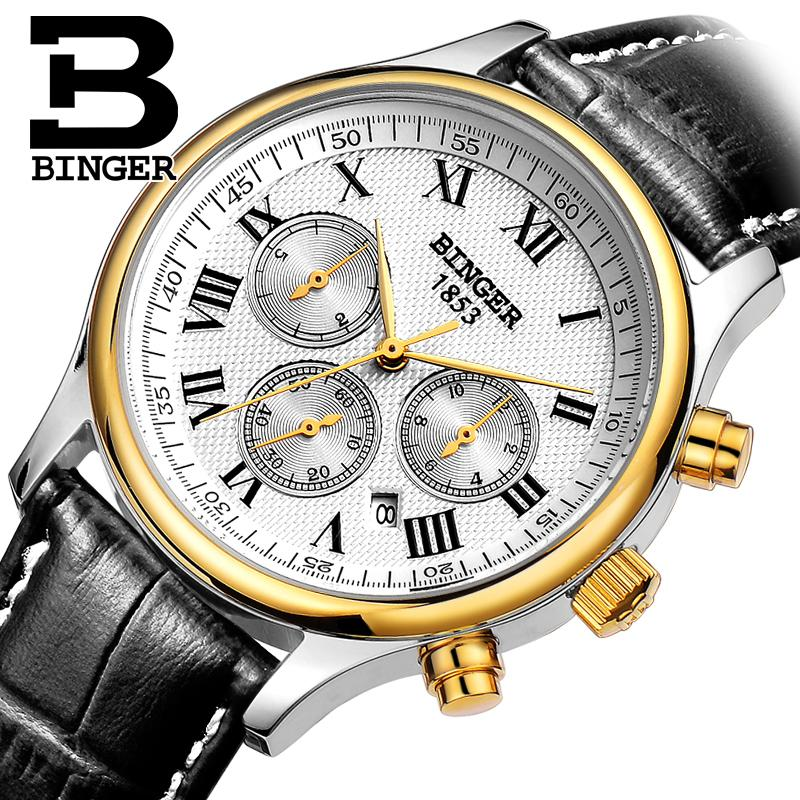 Wrist Waterproof Mens Watches Top Brand Luxury Switzerland Automatic Mechanical Men Watch Sapphire Military Reloj Hombre B6036 switzerland men watch automatic mechanical binger luxury brand wrist reloj hombre men watches stainless steel sapphire b 5067m
