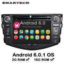 SMARTECH 2G RAM Android 6 2Din DVD Del Coche Reproductor Multimedia Estéreo Para TOYOTA RAV4 Radio Audio Mirrorlink Pantalla Táctil Bluetooth