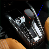Car Styling ABS Interior Gear Box Panel Cover Decorative Trim For Nissan Kicks 2017 LHD Gear Shift Box Cover Trim Panel Stickers