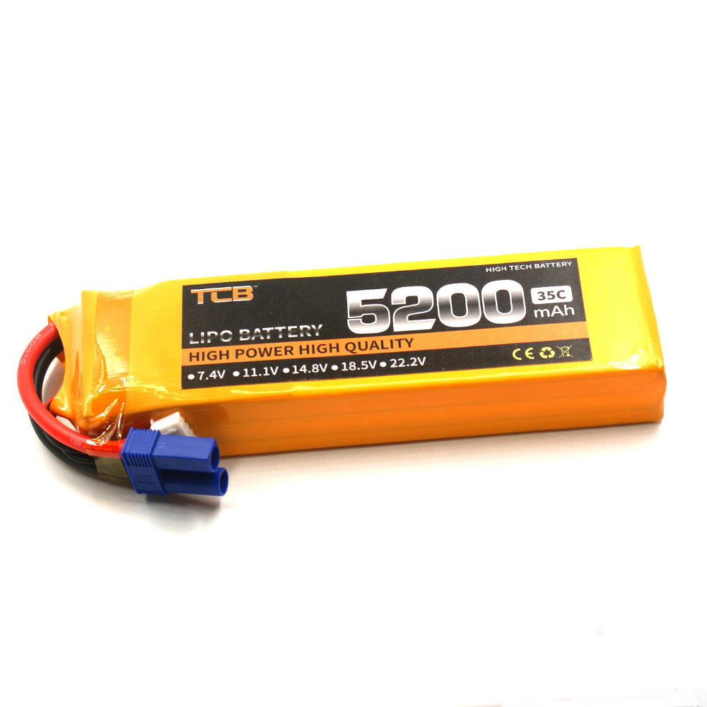 TCB 11.1V 5200mAh 35c 3s RC Lipo battery for rc airplane car boat helicopter remote control hig-rate cell 3s batteria 1s 2s 3s 4s 5s 6s 7s 8s lipo battery balance connector for rc model battery esc