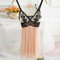 super sexy woman night dress set lolita girl nightwear lace lingerie ladies sexy sleeping nighty with underwear
