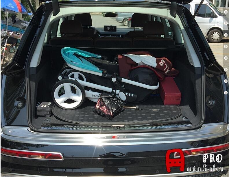 Car-styling For Audi Q7 2016 2017 Outside Rear Bumper Protector Threshold Trunk Plate Guard Cover Trim 1pcs alcatel ot 5054d pop 3 black white