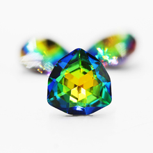 12mm Glass crystal Fat tr-iangle rhinestone jewelry Colorful stone set Point Back Fancy Stones Unique Colors for Clothes Decorat