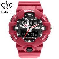 Men Watches Red Style New Sport Watch Smael Brand Quartz 50Meters Waterproof Relogio Masculino Erkek Saat