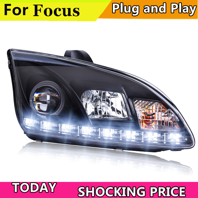 Car Styling Headlights for Ford Focus 2005 2008 LED Headlight for Focus Head Lamp LED Daytime