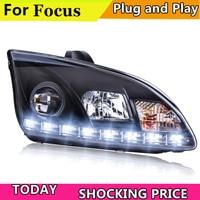 Car Styling Headlights for Ford Focus 2005 2008 LED Headlight for Focus Head Lamp LED Daytime Running Light LED DRL Bi Xenon HID