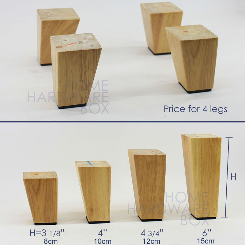 15cm 4x Wooden Cabinet Sofa Leg Natural Wood Furniture Square Legs In Casters From Home Improvement On Aliexpress Alibaba Group