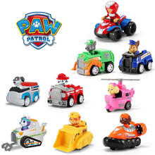 9 paw patrol toys set ryder marshall Everest Pull back Bauble Action Figures patrulha canina Children birthday Gift