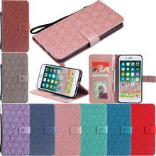 PU Leather Flip Wallet Embossed Vine Soft Phone Silicone Case Cover for Huawei P8 2017 P9 Mini P10 P20 Lite Pro P Smart Nova все цены