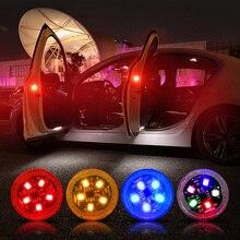 חדש LED רכב דלת פתיחת אזהרת אורות אלחוטי מגנטי אינדוקציה Strobe מהבהב אנטי התנגשות בחלק אחורי בטיחות מנורות