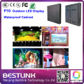 waterproof cabinet rgb led screen p10 outdoor SMD LED video display 960*960mm cabinet with epistar SMD3535 led display module