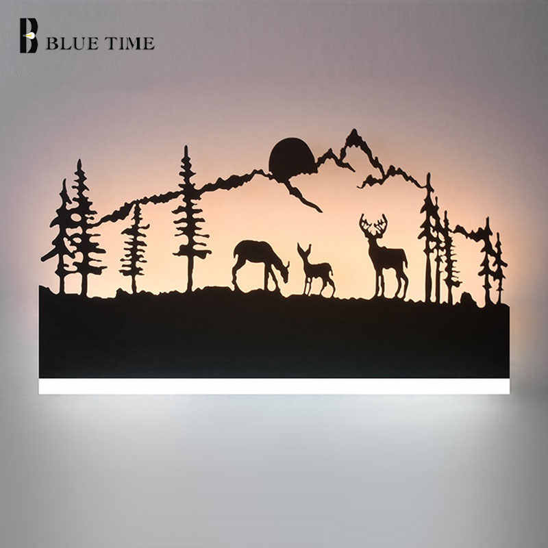 L38cm Black Creative Modern LED Wall Light For Living room Bedroom Bedside room Wandlamp AC110V 220 Acrylic Led Wall Lamp Home