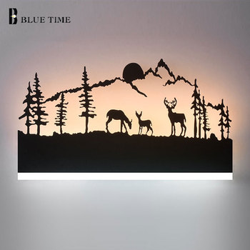 L38cm Black Creative Modern LED Wall Light For Living room Bedroom Bedside room Wandlamp AC110V 220 Acrylic Led Wall Lamp Home modern chinese style wood wall lamp wooden acrylic tree shape living room led bedroom bedside wall sconces