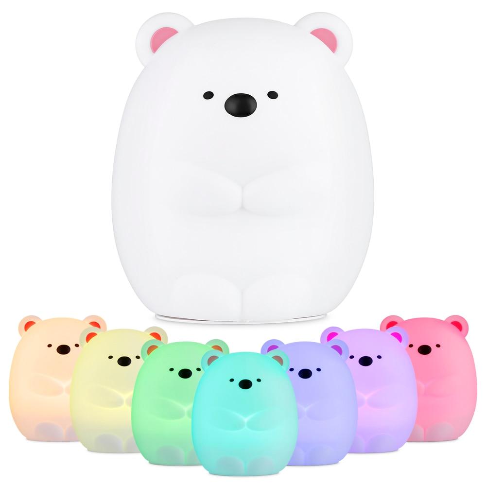 Bear Shaped Led Children S Nightlight Lamp Toysiki