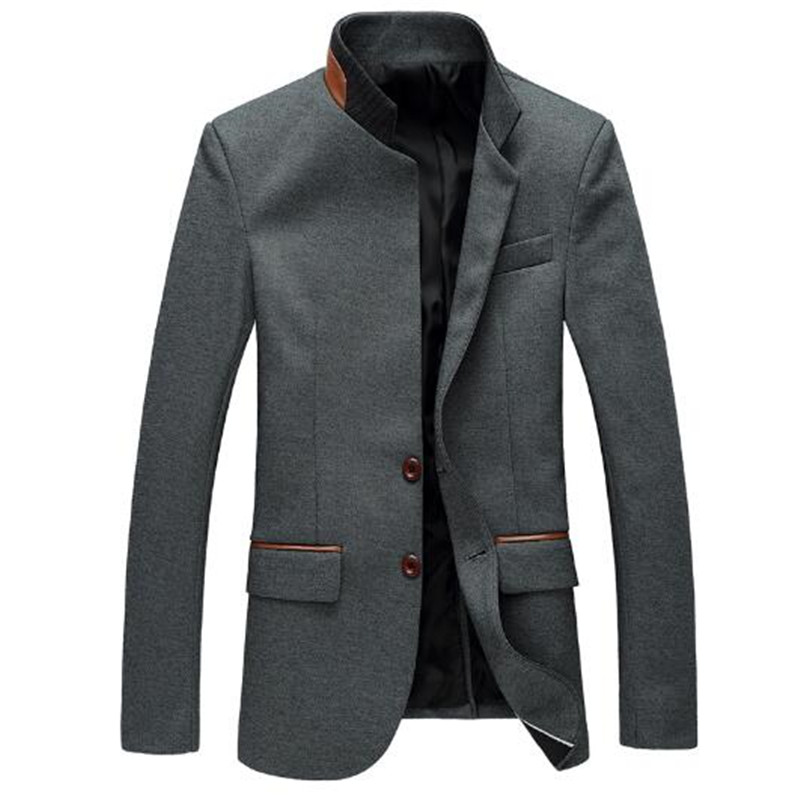 Casual Suit For Men New Arrival Male Autumn Spring Suit Fashion Suits High Quality Slim Suit Blazers Coat Stand Collar Gent Life