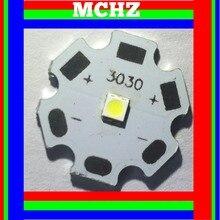 50pcs/lot SMD warm white 3V double dual chip  Mini Flashlight 260 Lumens EMC Ceramic 3030