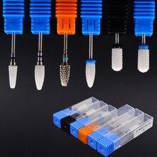 Керамическая насадка для дизайна ногтей, сверло, фреза для ногтей, электрическая дрель, устройство для маникюра, аксессуар для удаления акрилового лака