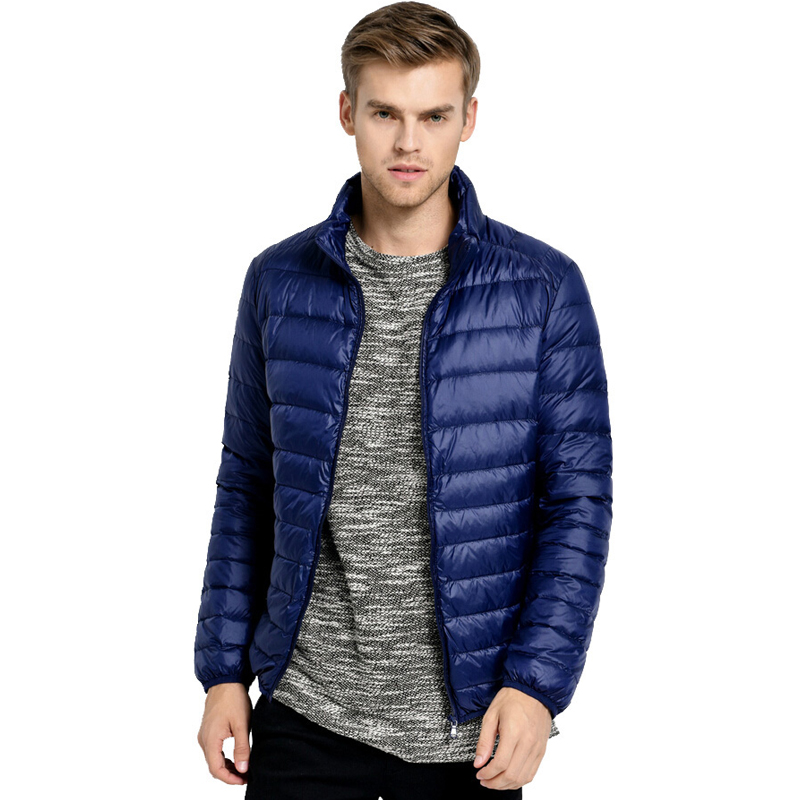 Ultralight Down Jacket Men Stand Collar 90 White Duck Down Jackets jaqueta masculino Mens 2017 New Autumn Winter Parka Coats