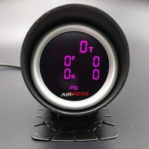 Image 5 - 2 polegada 52mm lcd cinco pressão ar calibre barra psi ar suspensão passeio de ar com 5 peças sensores elétricos