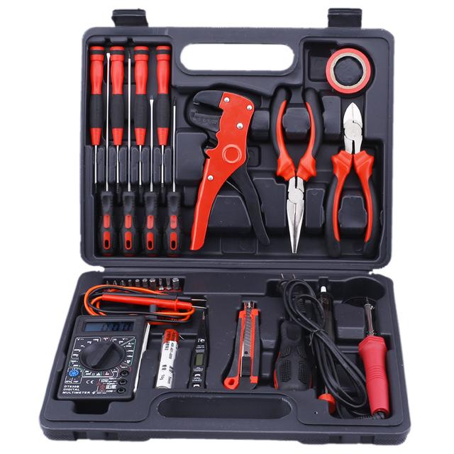 STARPAD 30 conjuntos de ternos de soldagem elétrica eletrônica telecomunicações eletricista maleta de ferramentas de manutenção de hardware