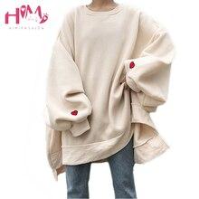 Japanese Harajuku Oversize Winter Fleece Women Hoodies Korea