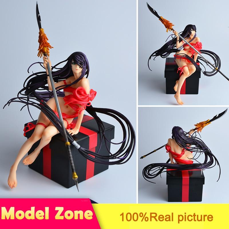 цена на Japanese Action Figure Shin Ikkitousen Kanu Unchou Sexy Girl Model Cartoon Doll PVC 25cm Figurine World Anime XX015