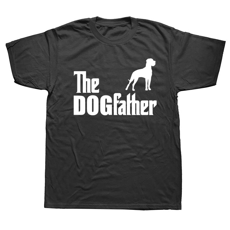 T     Shirts   Funny Short Crew Neck The Dogfather Great Dane Pet Dog Zomer Mens   T     Shirts