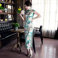 Cheongsam Dress Long Section Spring Summer 2017 New Self Cultivation Improved Large Scale Daily Heavy Thin