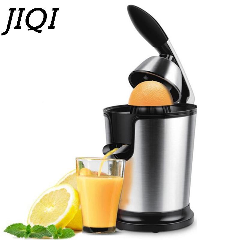 JIQI Household Stainless steel Orange Lemon electric juicers 160W aluminum handle Low power Juicer 220V EU