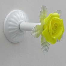 Creative Fashion colorful Wall Decorative Hardware Hooks white yellow green blue pink clothes curtain cap home clothes shop hook
