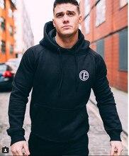 2017 Men's Hoodies gyms Fitness Sweatshirt Fashion leisure Pullover Hooded Jacket Tracksuits Brand clothing Slim Fit SportsSwear