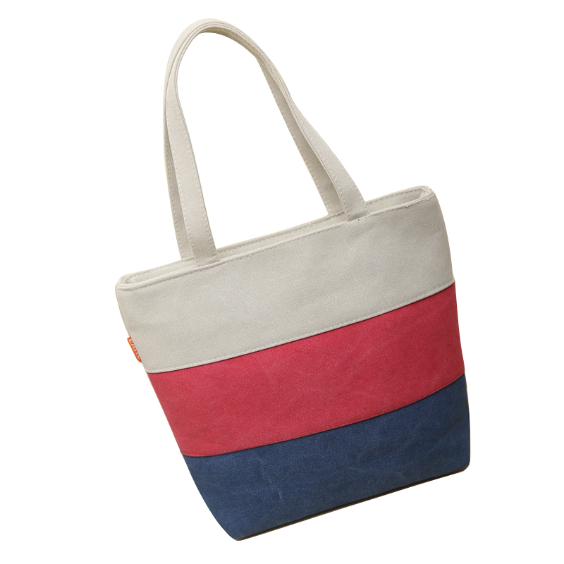 Patchwork big Stripe shoulder handbags shopping bag beach handbag new fashion canvas bag wild rough twine striped beach bagPatchwork big Stripe shoulder handbags shopping bag beach handbag new fashion canvas bag wild rough twine striped beach bag
