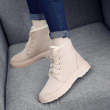 Classic Women Winter Boots Suede Ankle Snow Boots Female Warm Fur Plush Insole High Quality Botas Mujer Lace-Up V3 women boots high quality classic lace up women winter diamond thick soled boots ankle snow boots female warm fur plush insole