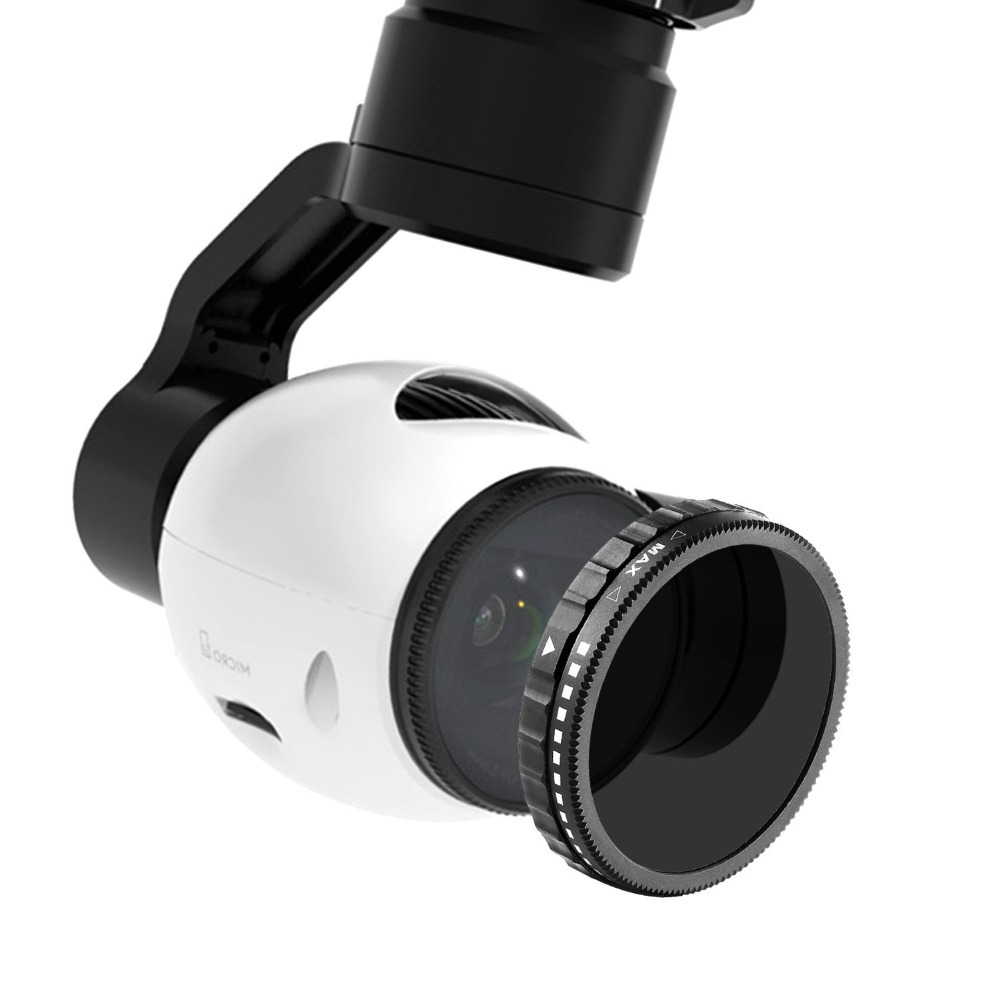 Neewer voor DJI OSMO / Inspire 1, ND2-ND400 Neutrale densiteit instelbaar variabel filter gemaakt van High Definition optisch glas